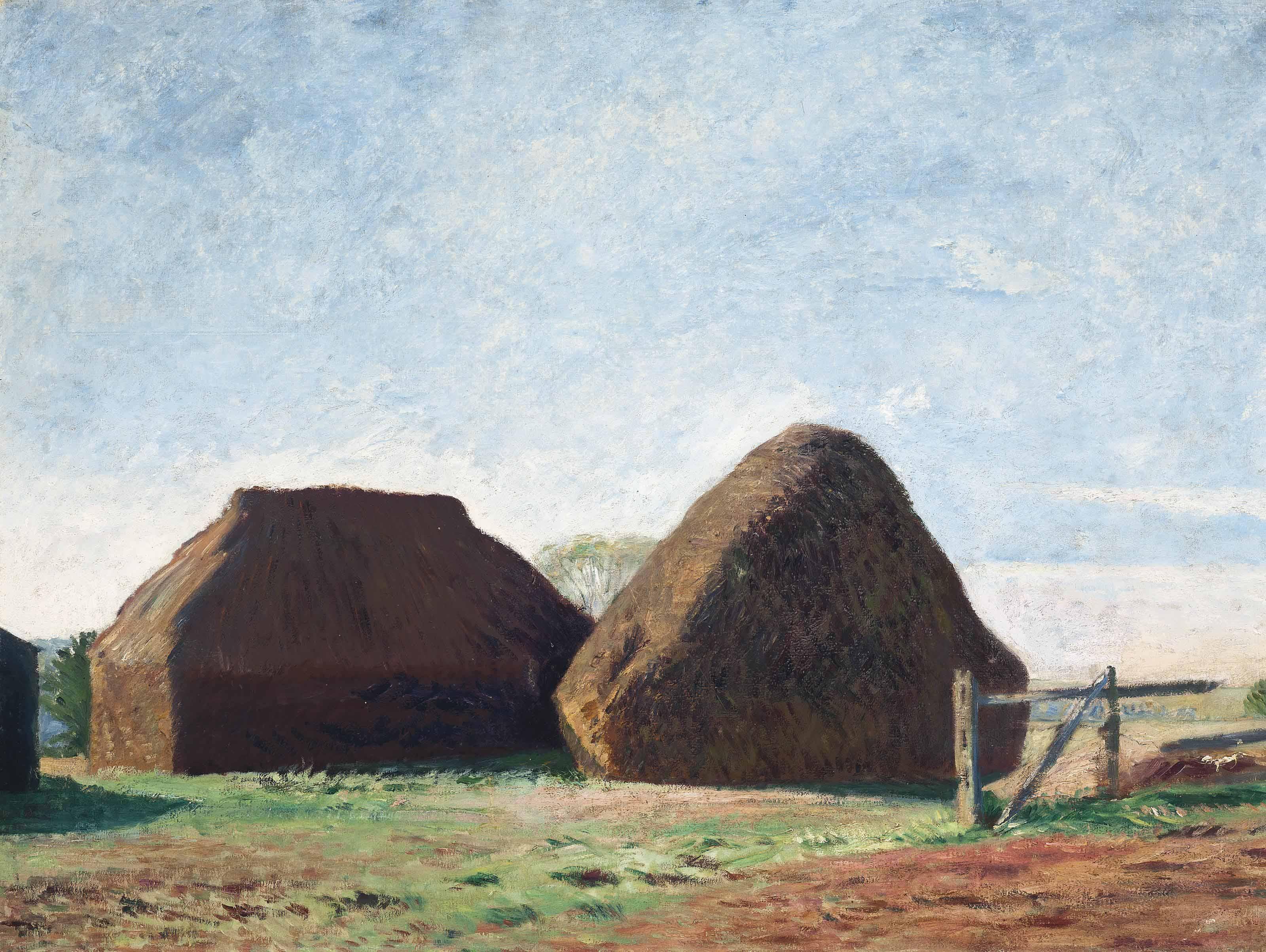 Haystacks in the sunlight