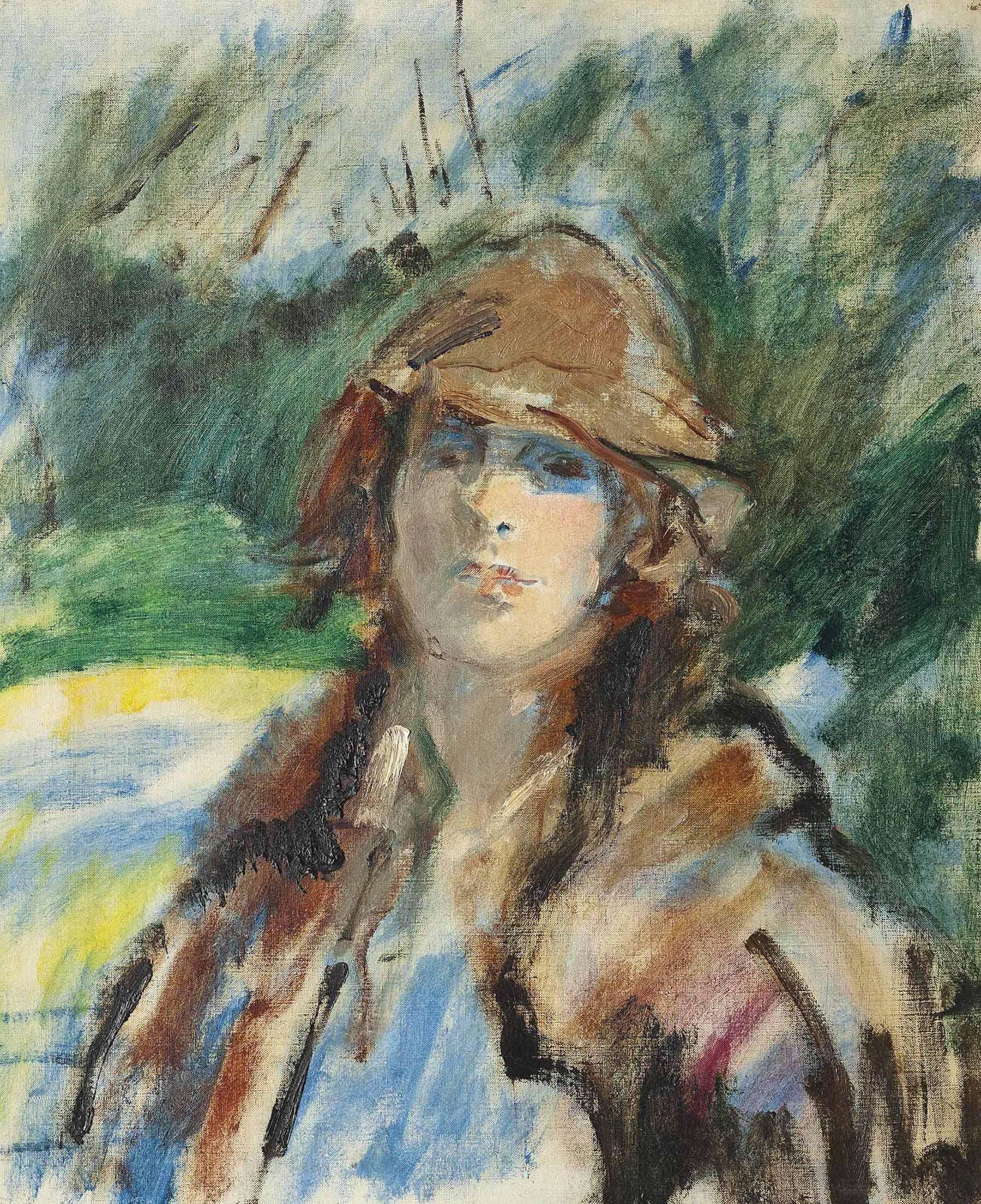 In the garden, Mrs. Claude Johnson