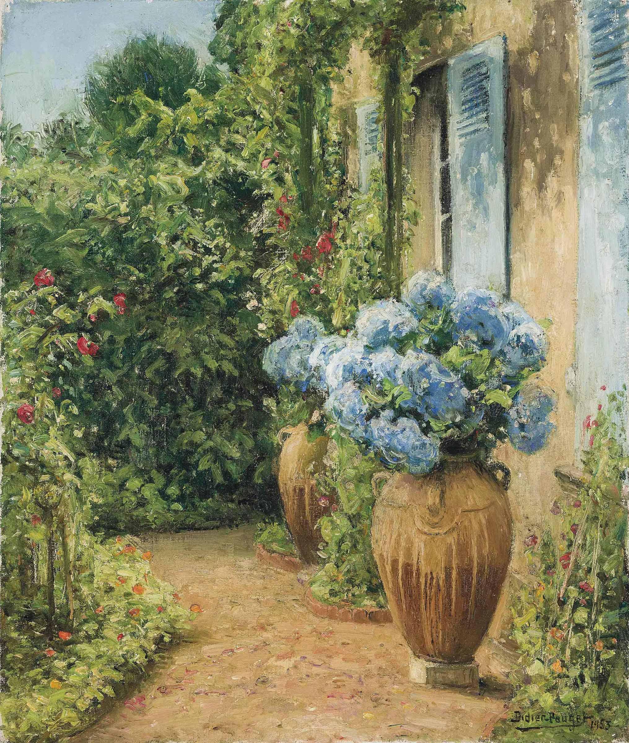 A sunlit garden