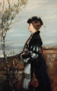 Portrait of lady in an elegant costume