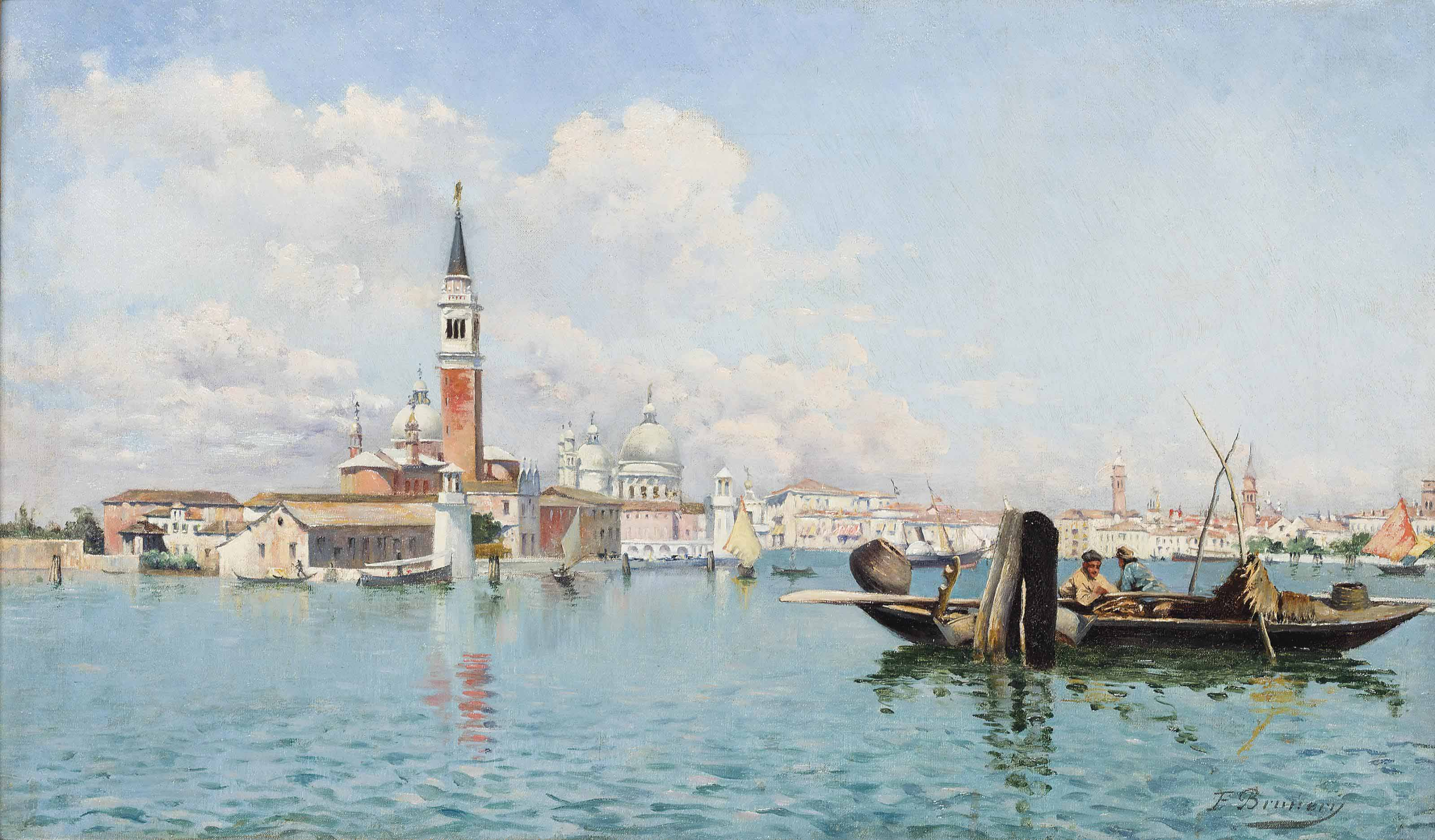 Fishing on the Venetian lagoon