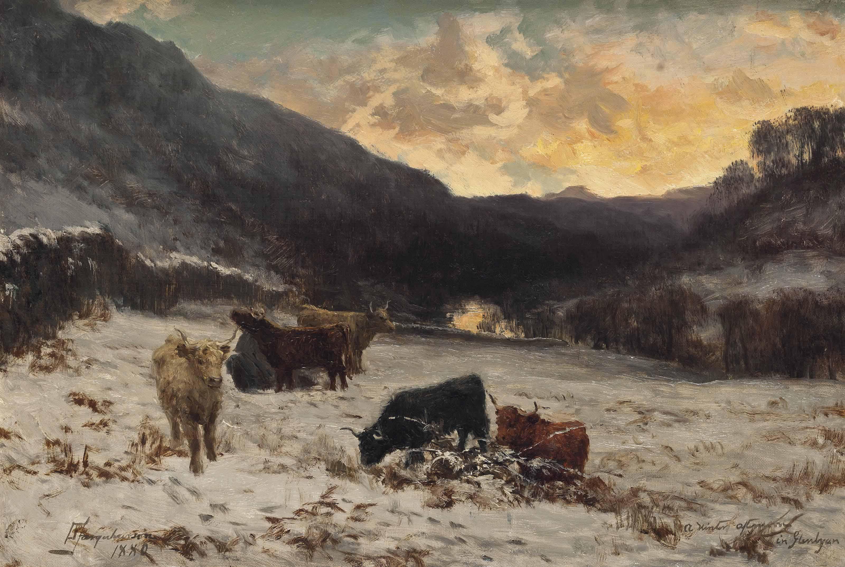 A winter afternoon in Glen Lyon, Scotland