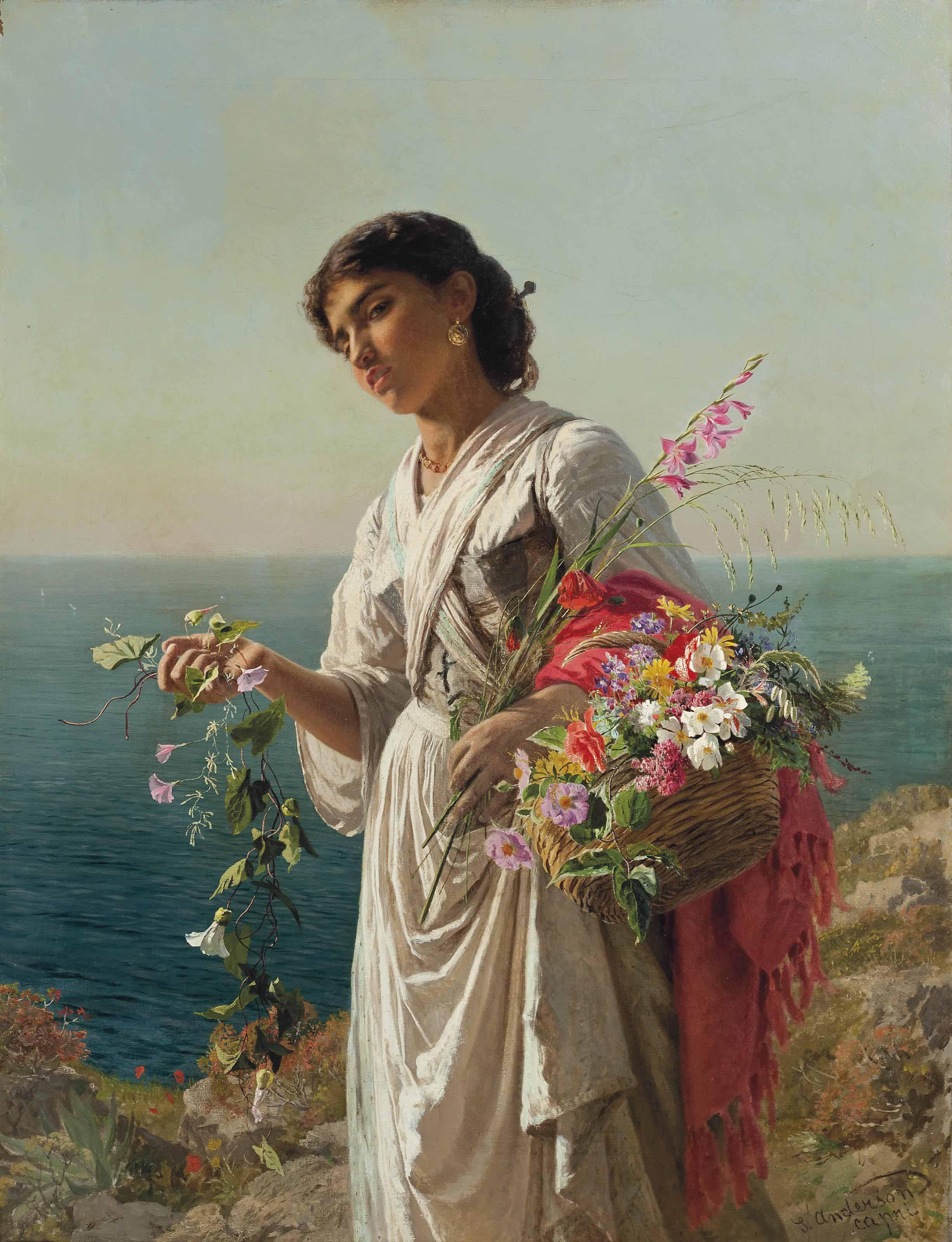 The flower girl, Capri