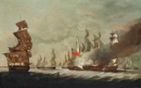 H.M. frigate Arethusa inflicting the final blows on the French frigate Pomone, 23 April 1794, off the Channel Islands
