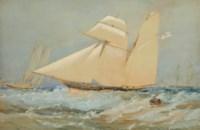 The topsail schooner Wanderer, R.Y.S., in a fresh breeze