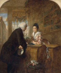 The Glove seller: A scene from Sterne's 'Sentimental Journey'
