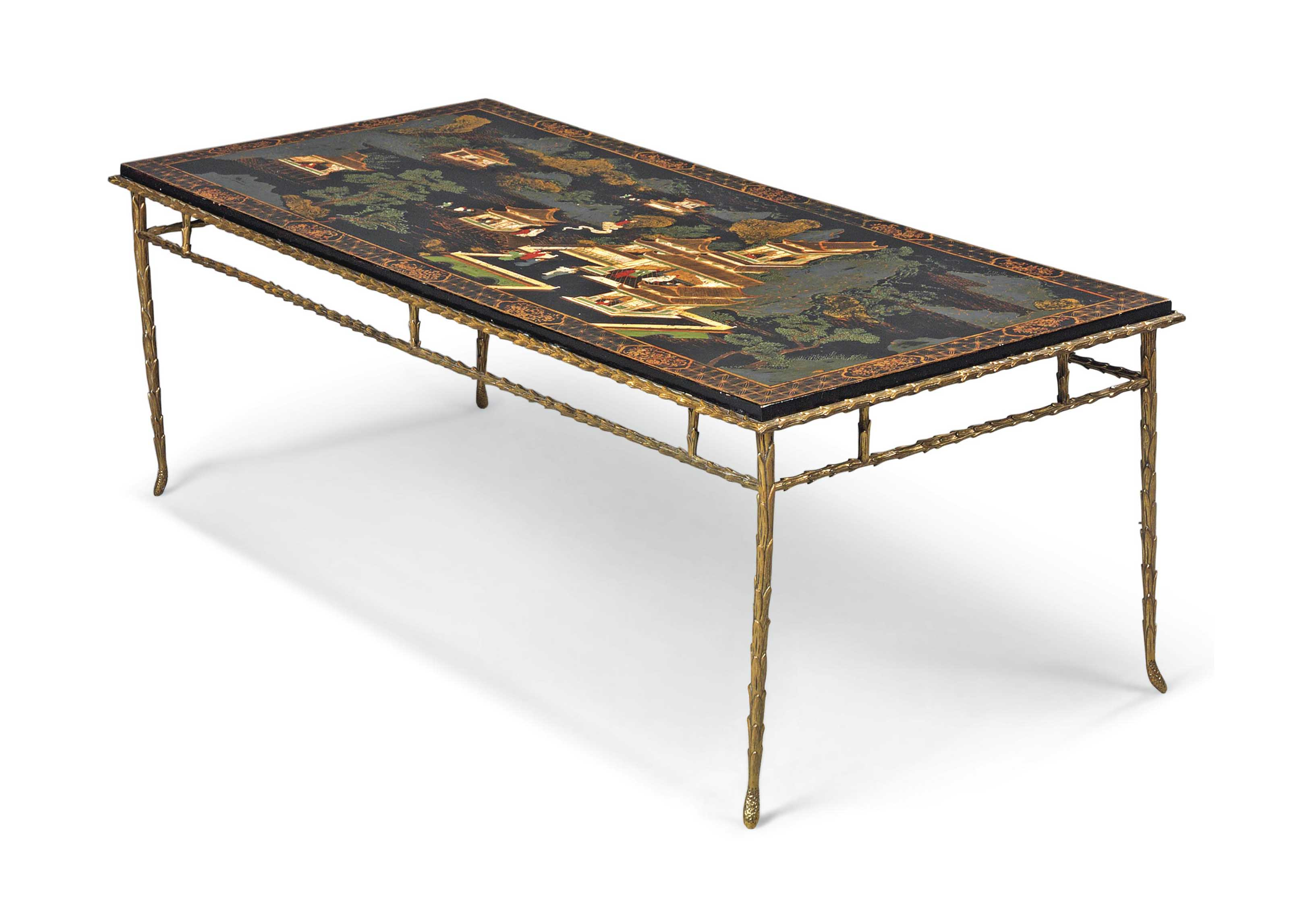A FRENCH CHINOISERIE JAPANNED