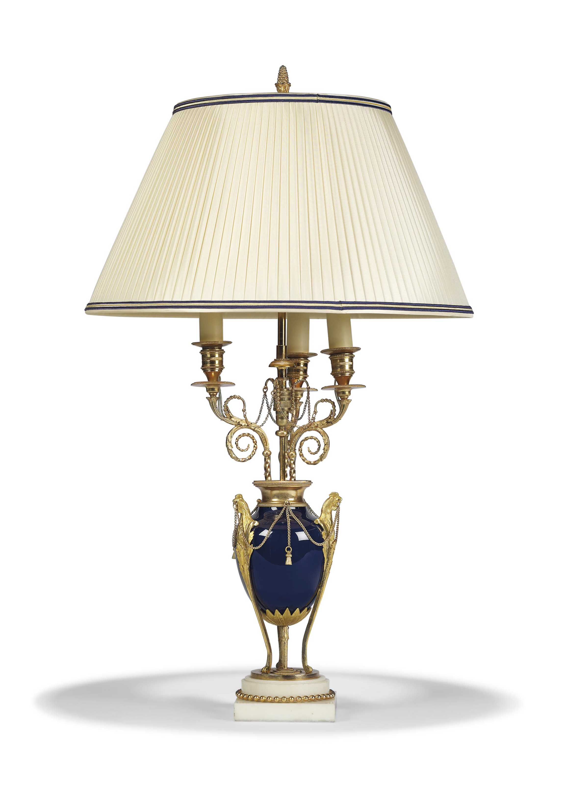 A FRENCH ORMOLU-MOUNTED BLUE P