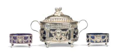 A FRENCH SILVER SUGAR-BOWL AND