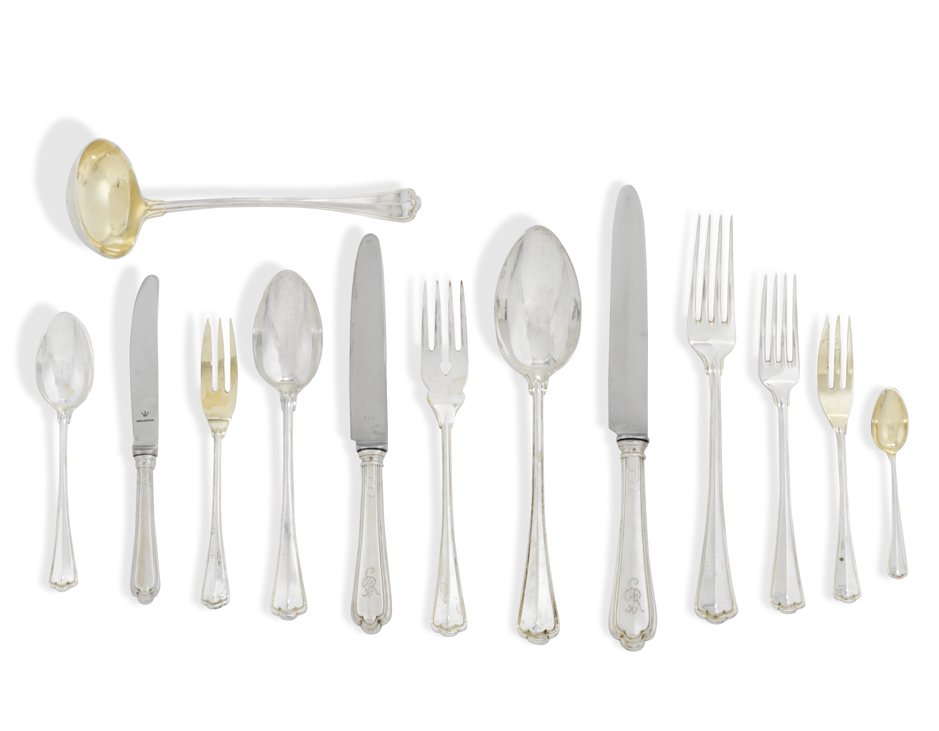 A GERMAN SILVER TABLE SERVICE