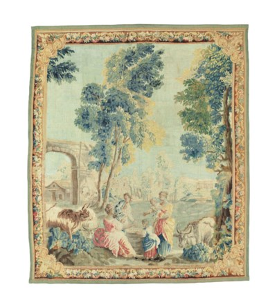 A LOUIS XV PASTORAL TAPESTRY