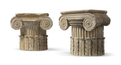 A PAIR OF COADE STONE PILASTER