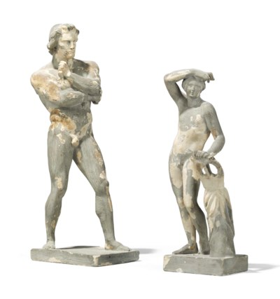 A PLASTER FIGURE OF A GALLIC S