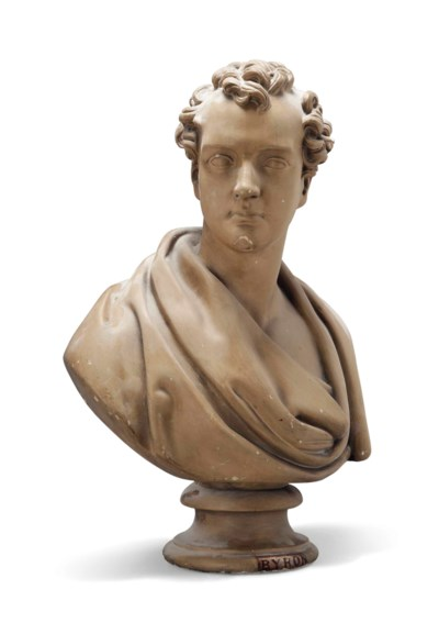 A PLASTER BUST OF LORD BYRON