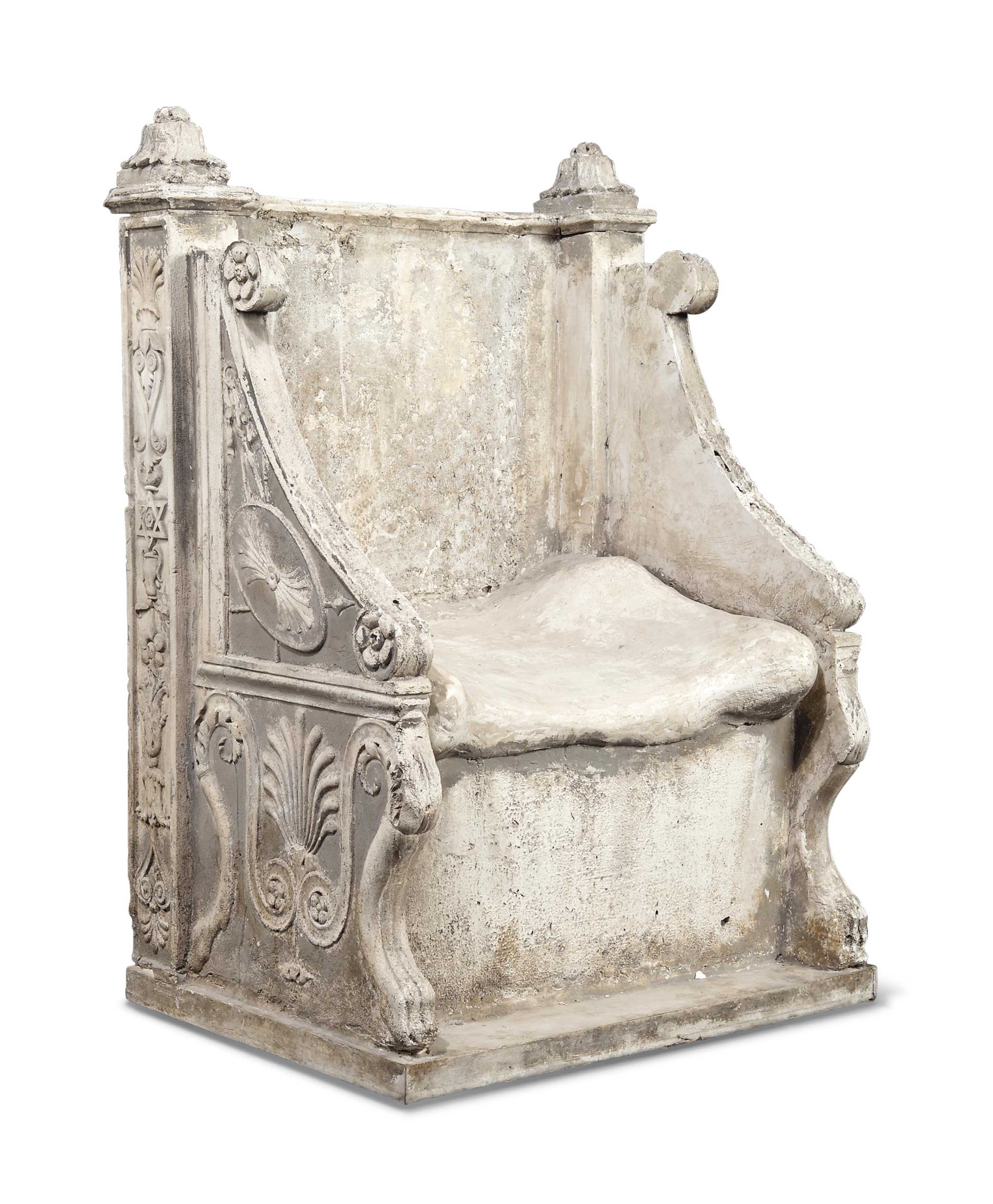 A PLASTER MODEL OF THE THRONE