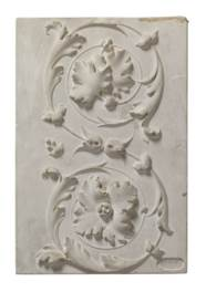 EIGHT GERMAN PLASTER RELIEF PA