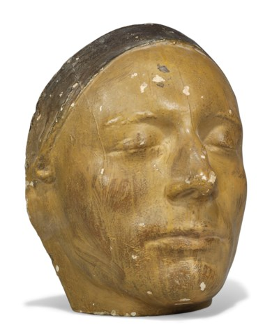 A PLASTER LIFE MASK OF JOHN KE