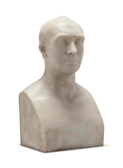 A REGENCY WHITE MARBLE BUST OF