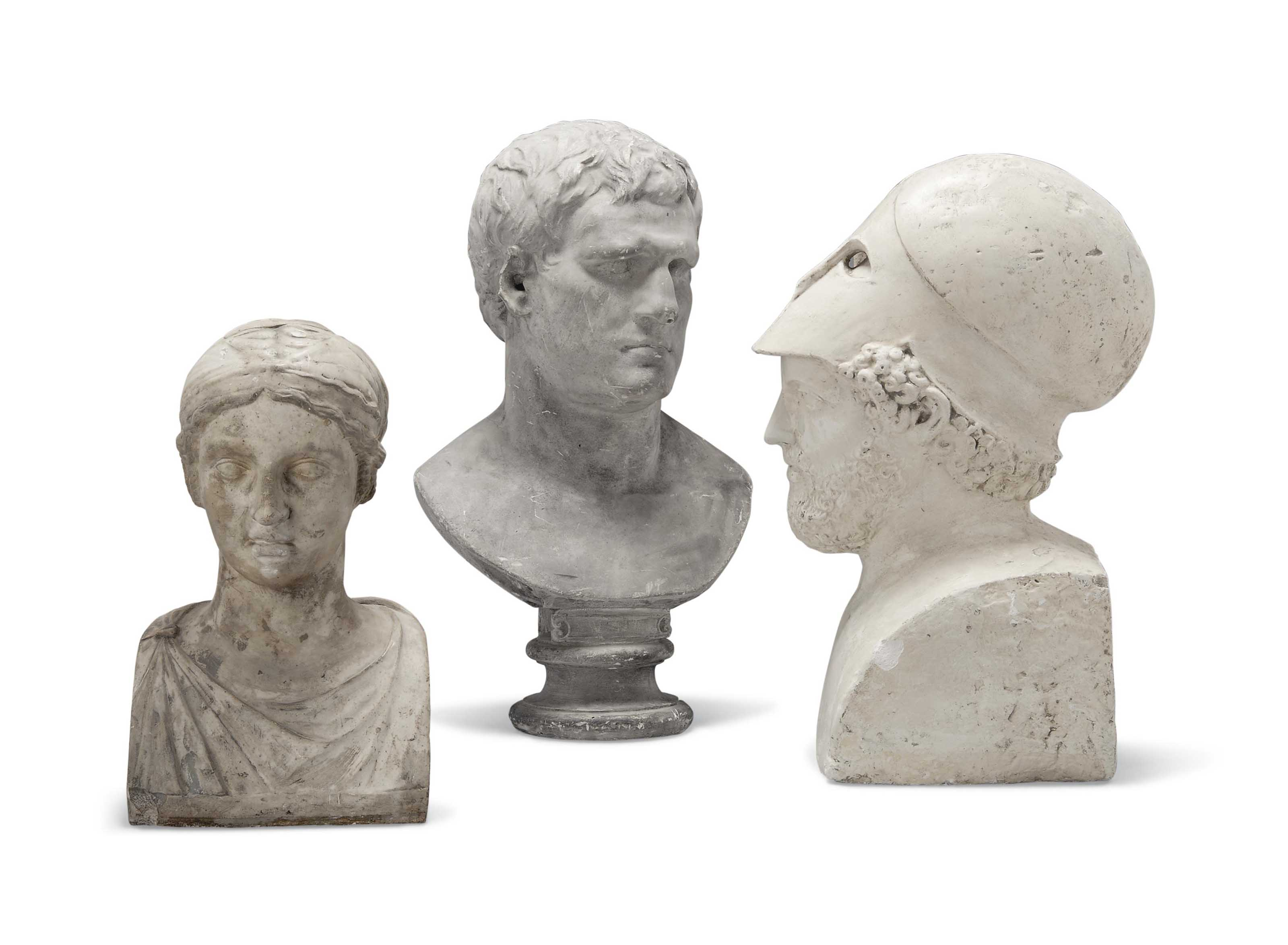 A PLASTER BUST OF PERICLES