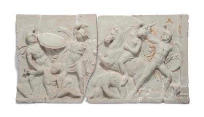 A CLASSICAL PLASTER PANEL