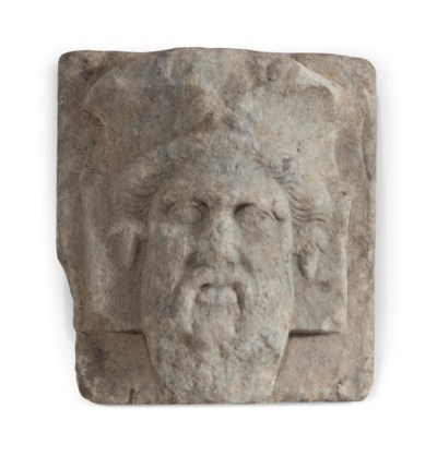 A ROMAN MARBLE BEARDED MALE HE