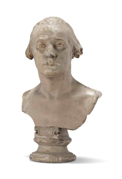 A REGENCY PLASTER BUST OF GEOR