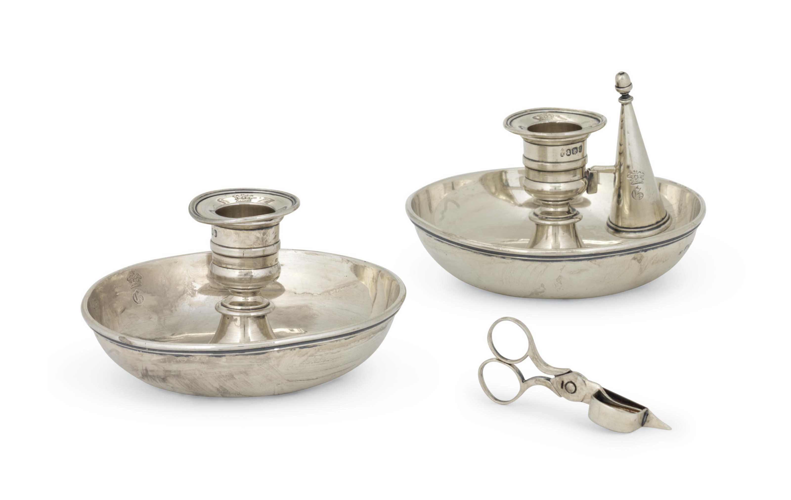 A PAIR OF WILLIAM IV SILVER CH