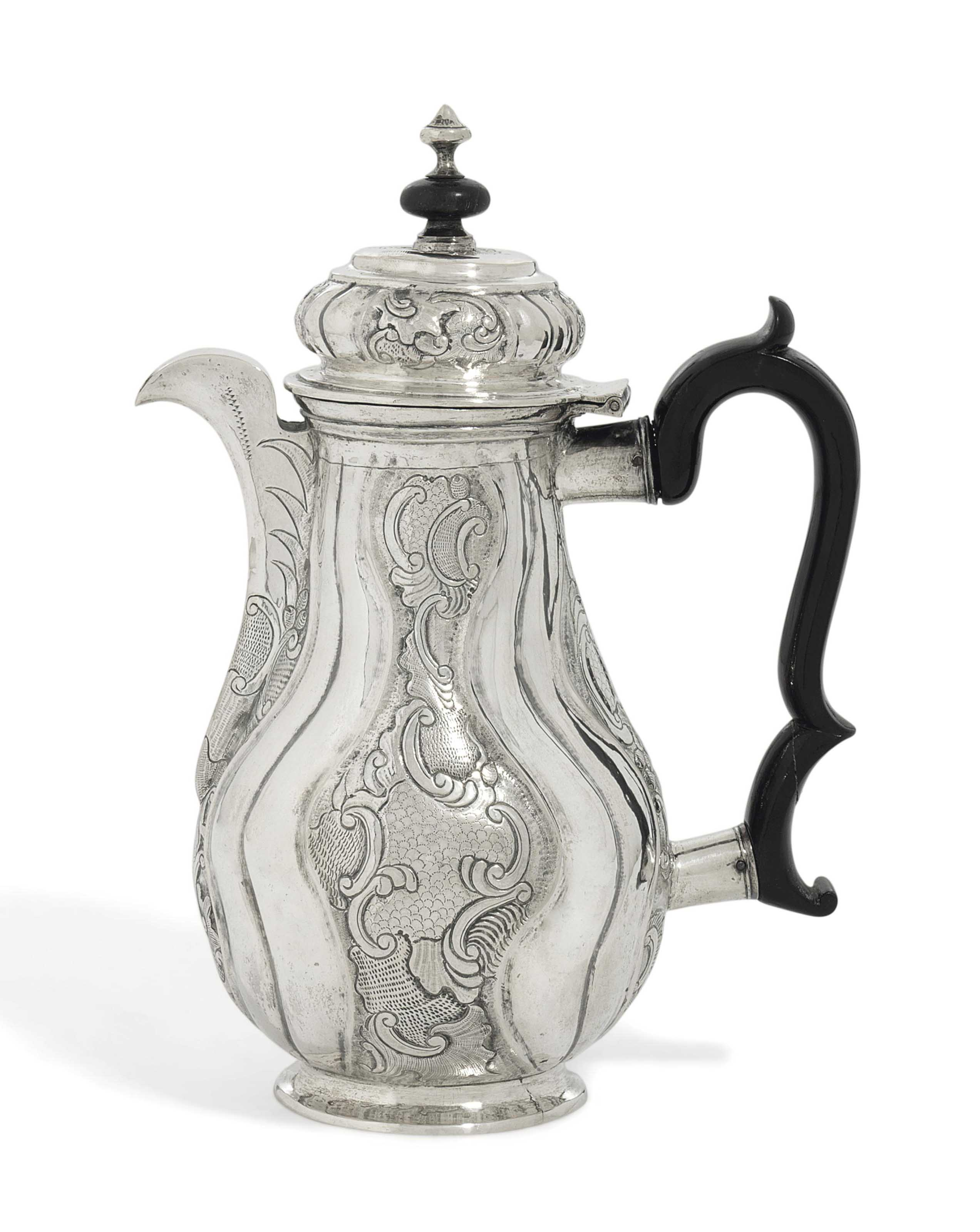 A RUSSIAN SILVER COFFEE-POT