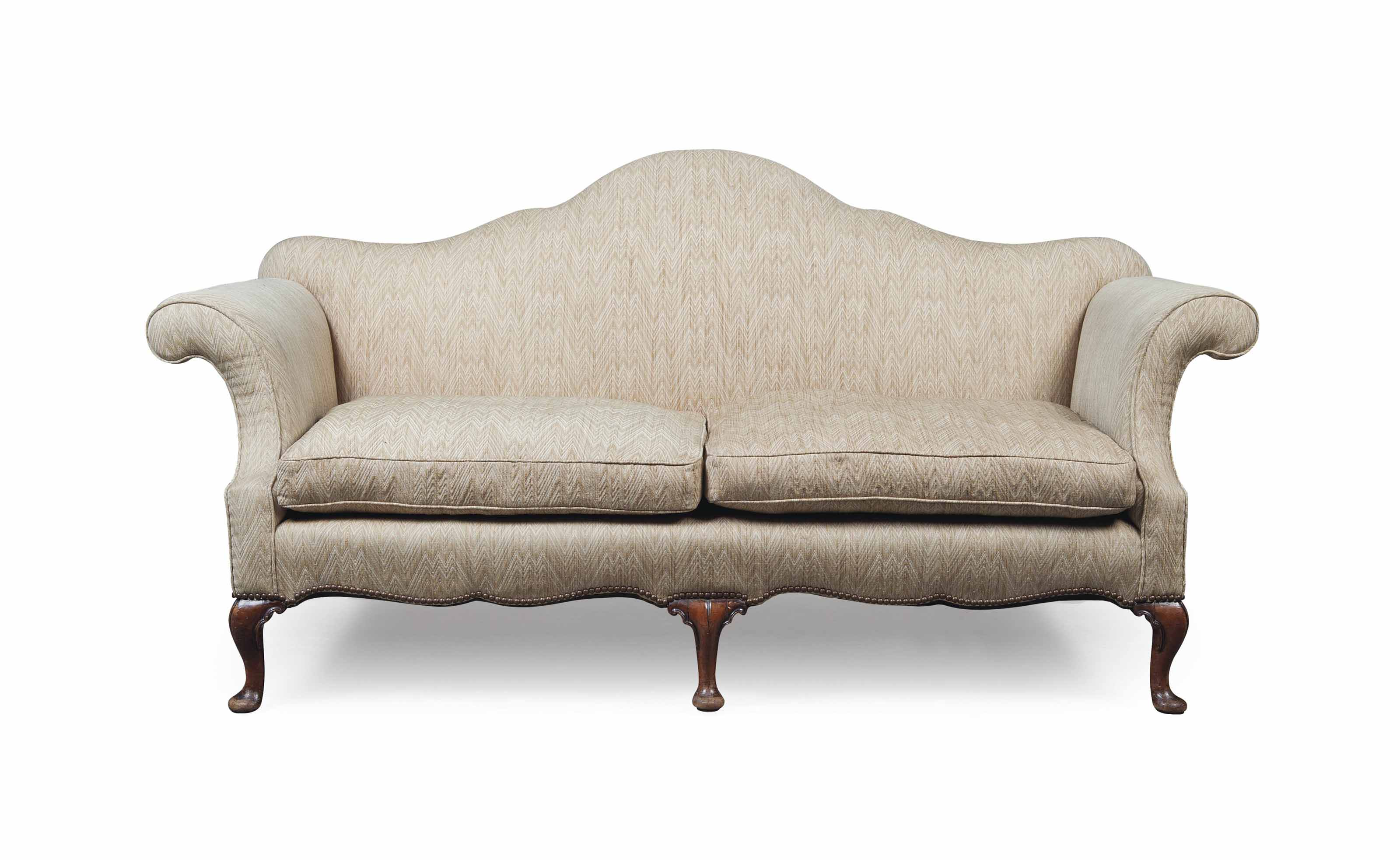 Strange A Large Hump Back Cabriole Leg Sofa Early 20Th Century Of Ncnpc Chair Design For Home Ncnpcorg