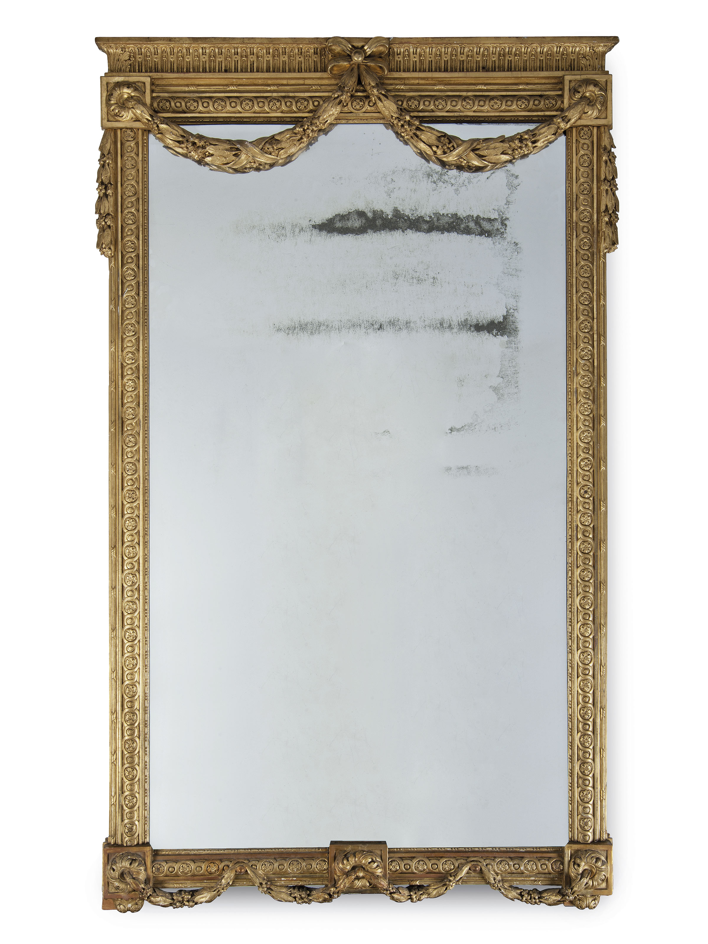 A LARGE VICTORIAN GILTWOOD OVE