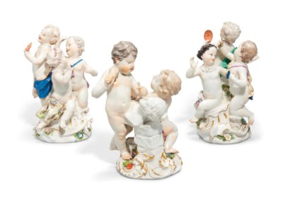 THREE MEISSEN GROUPS OF PUTTI