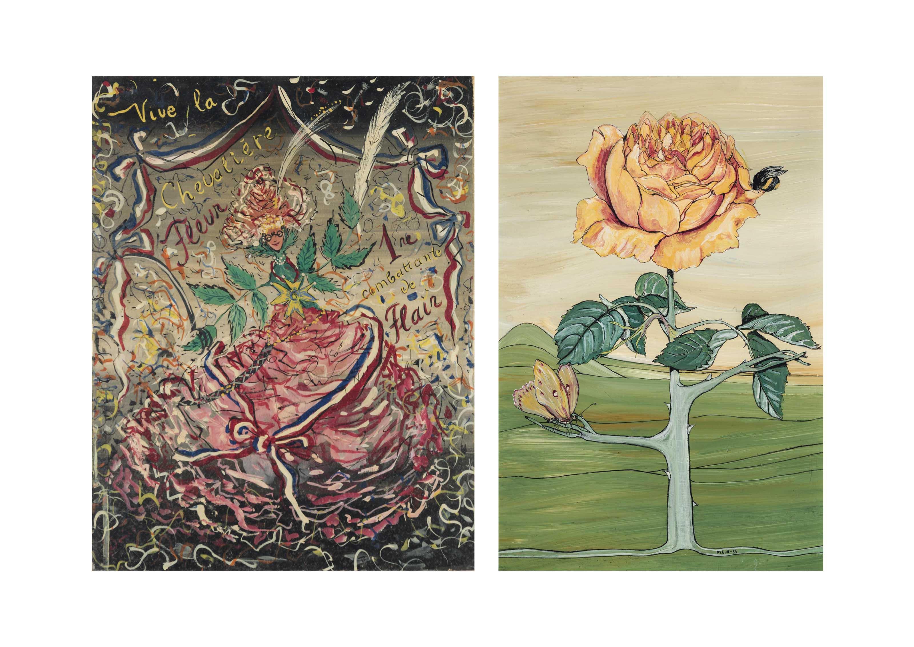 Vive la Chevalière Fleur 1re combattante de Flair; and The rose that grows