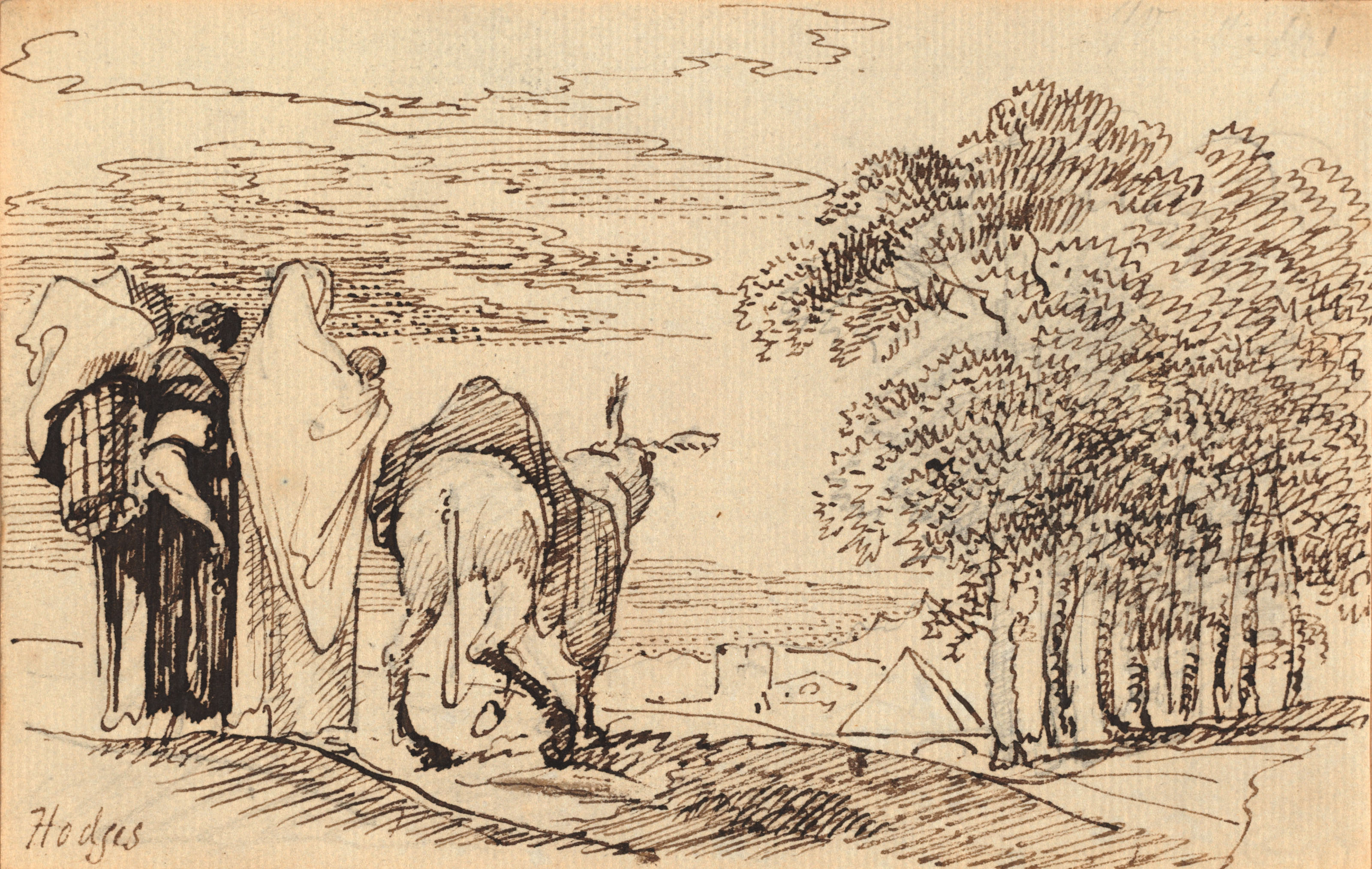 The Flight into Egypt; and Hagar and Ishmael