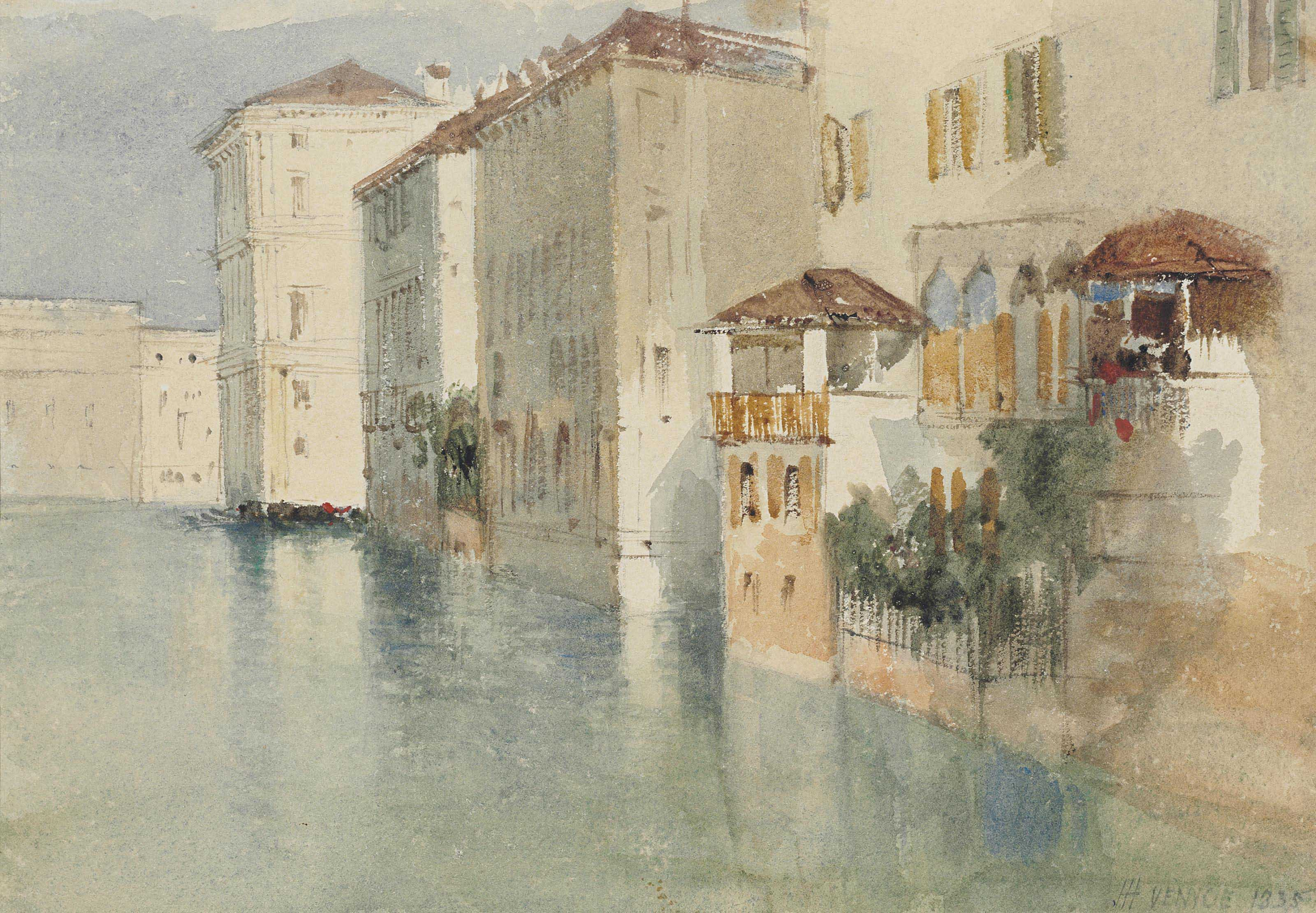 The Palazzo Falier on the Grand Canal, with the Ca' del Duca to the left, Venice