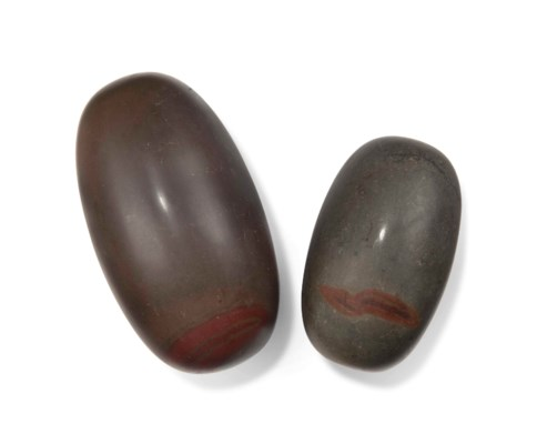 TWO LINGAM STONES