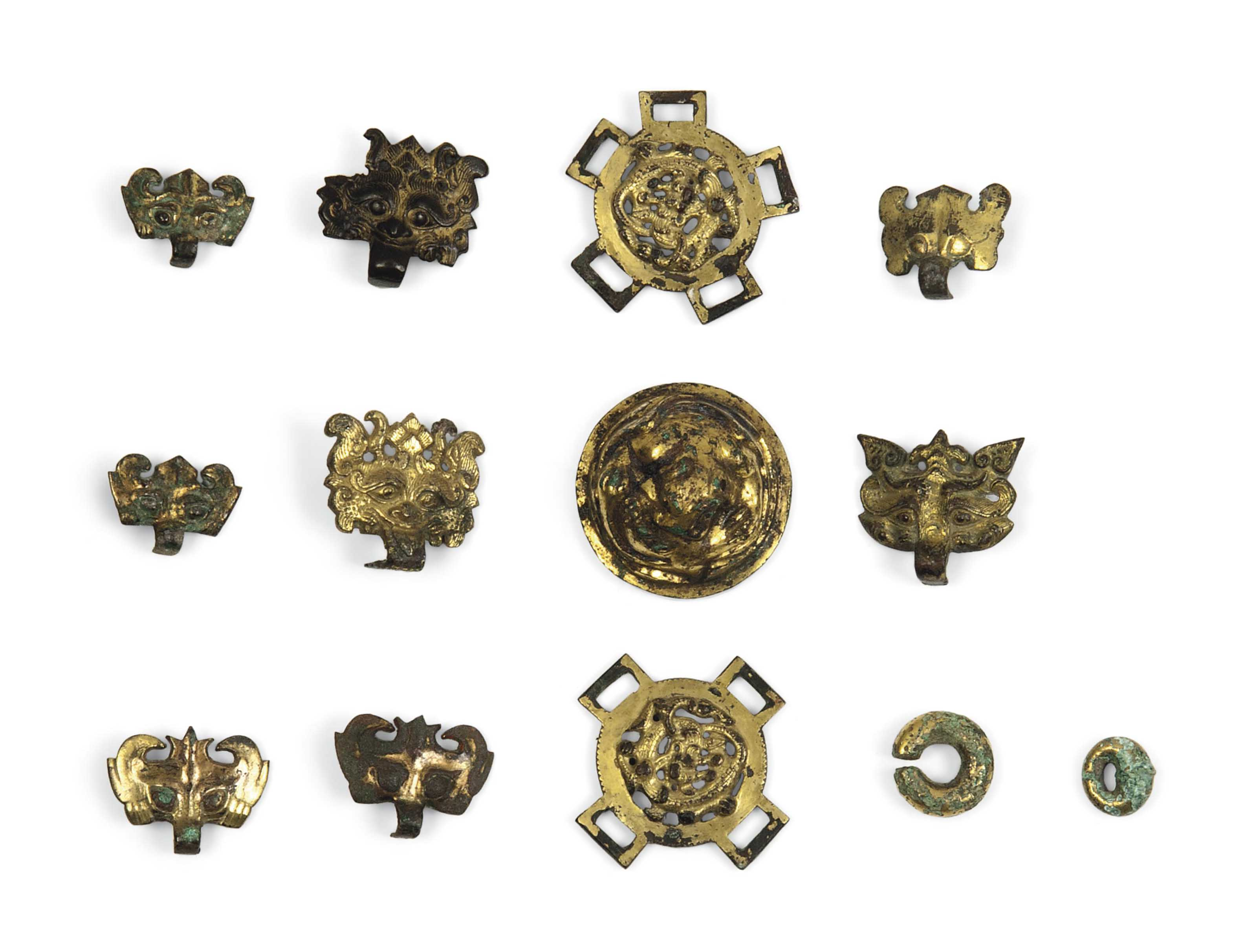 THIRTEEN GILT-BRONZE SMALL FIT