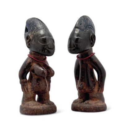 A PAIR OF MALE AND FEMALE IBEJ