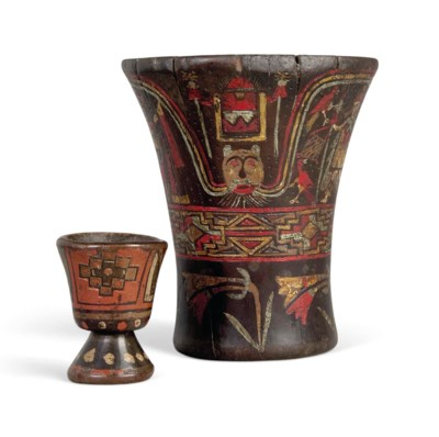 A POLYCHROME-PAINTED VESSEL