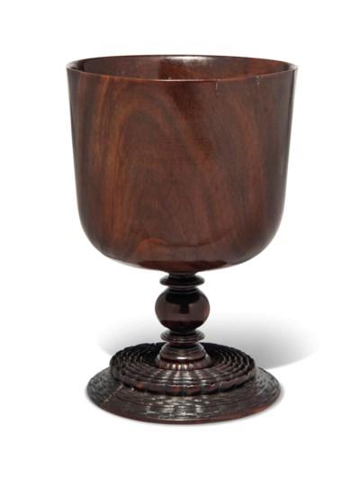 A LIGNUM VITAE LOVING CUP