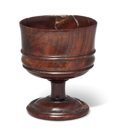 A LIGNUM VITAE DIPPER CUP
