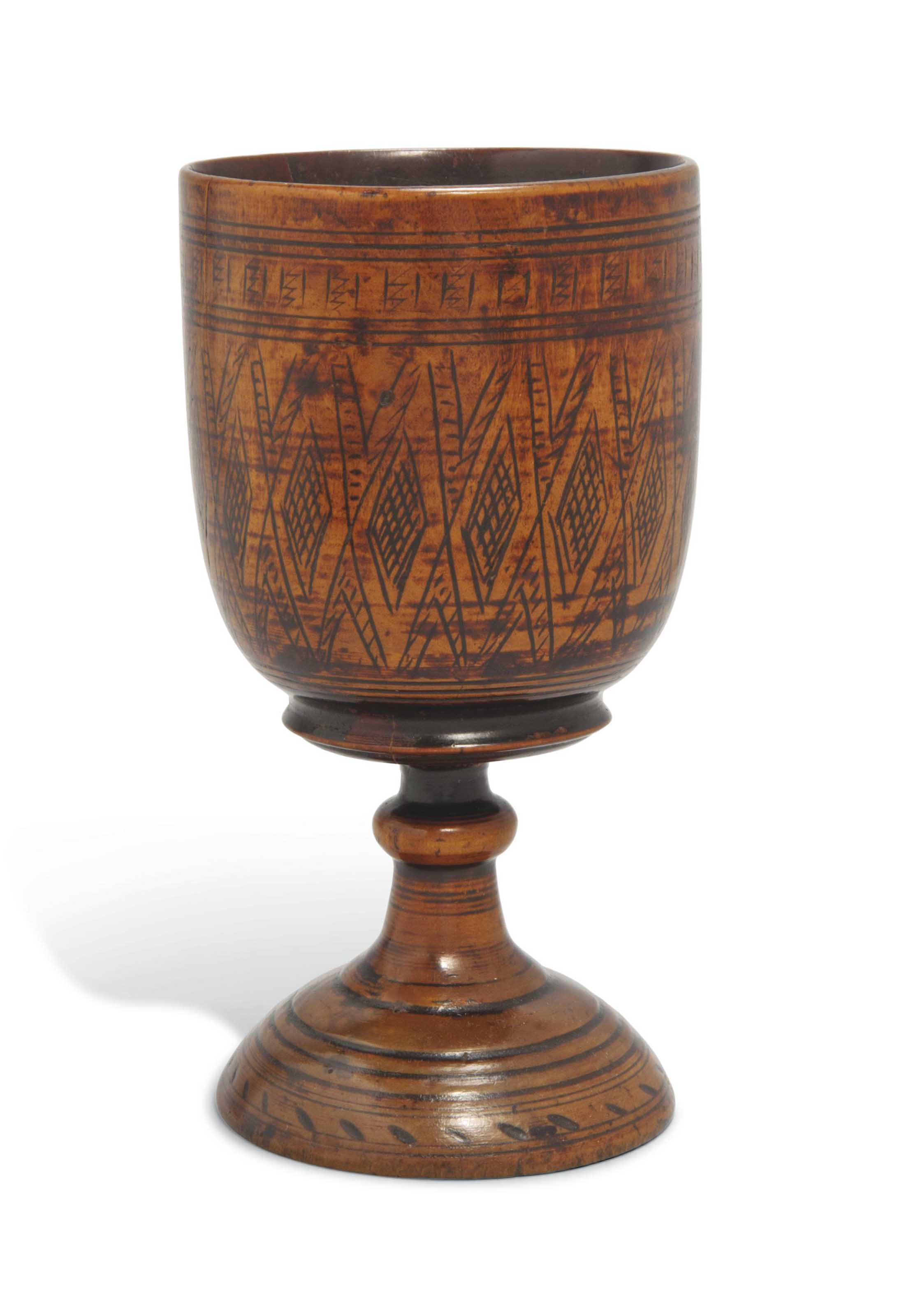 A PEARWOOD GOBLET