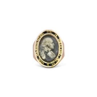 GEORGE WASHINGTON (1732-1799) A GOLD AND ENAMEL.