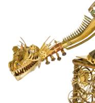 A NOVELTY 'DRAGON' CLOCK