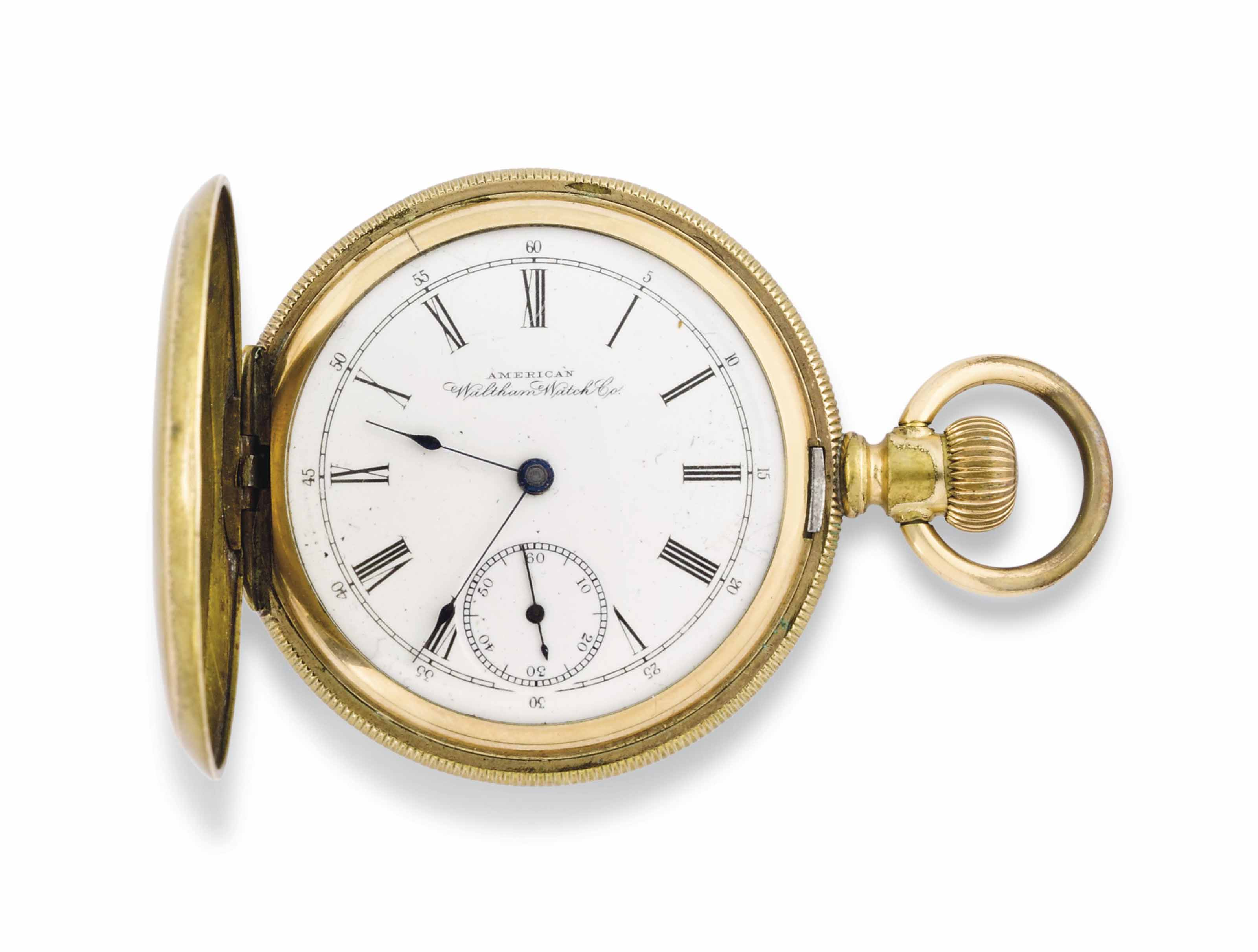 DR HAWLEY HARVEY CRIPPEN, (1862-1910) A GOLD FILLED HUNTER CASE KEYLESS LEVER POCKET WATCH