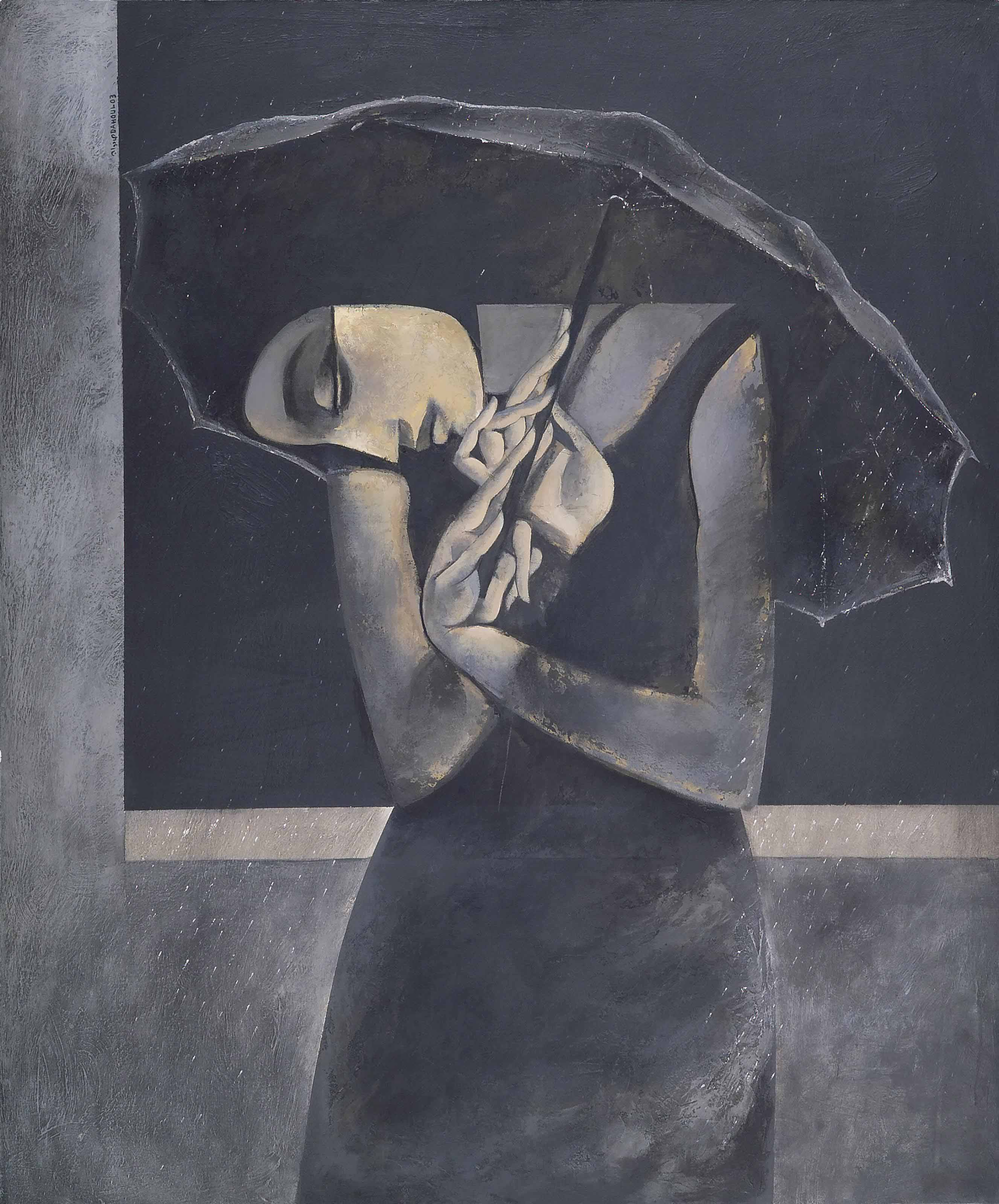 Untitled (Woman Standing in the Rain)