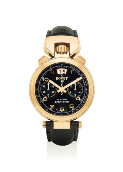 BOVET. AN 18K GOLD AUTOMATIC C