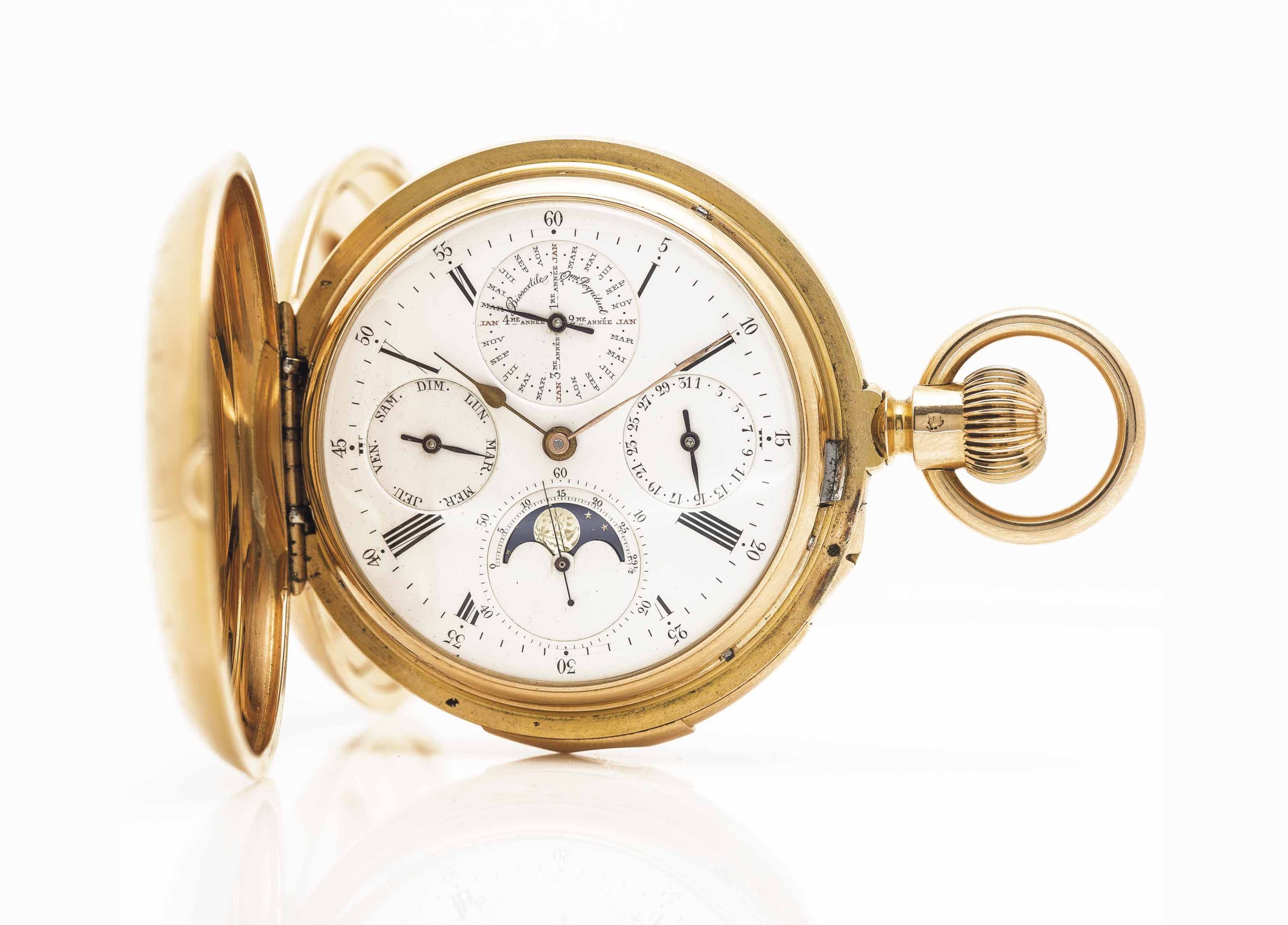 LOUIS AUDEMARS, MADE FOR BREGUET AN EXTREMELY FINE AND RARE ...