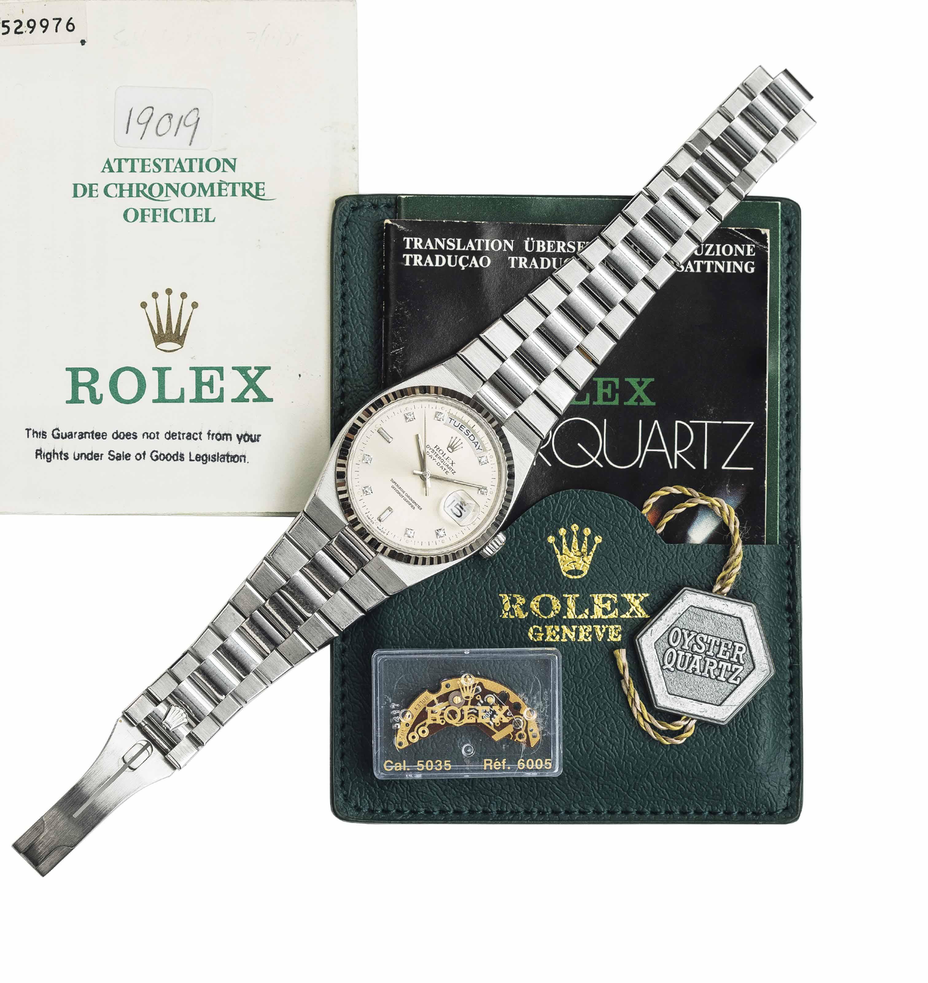 ROLEX. A VERY FINE 18K WHITE G