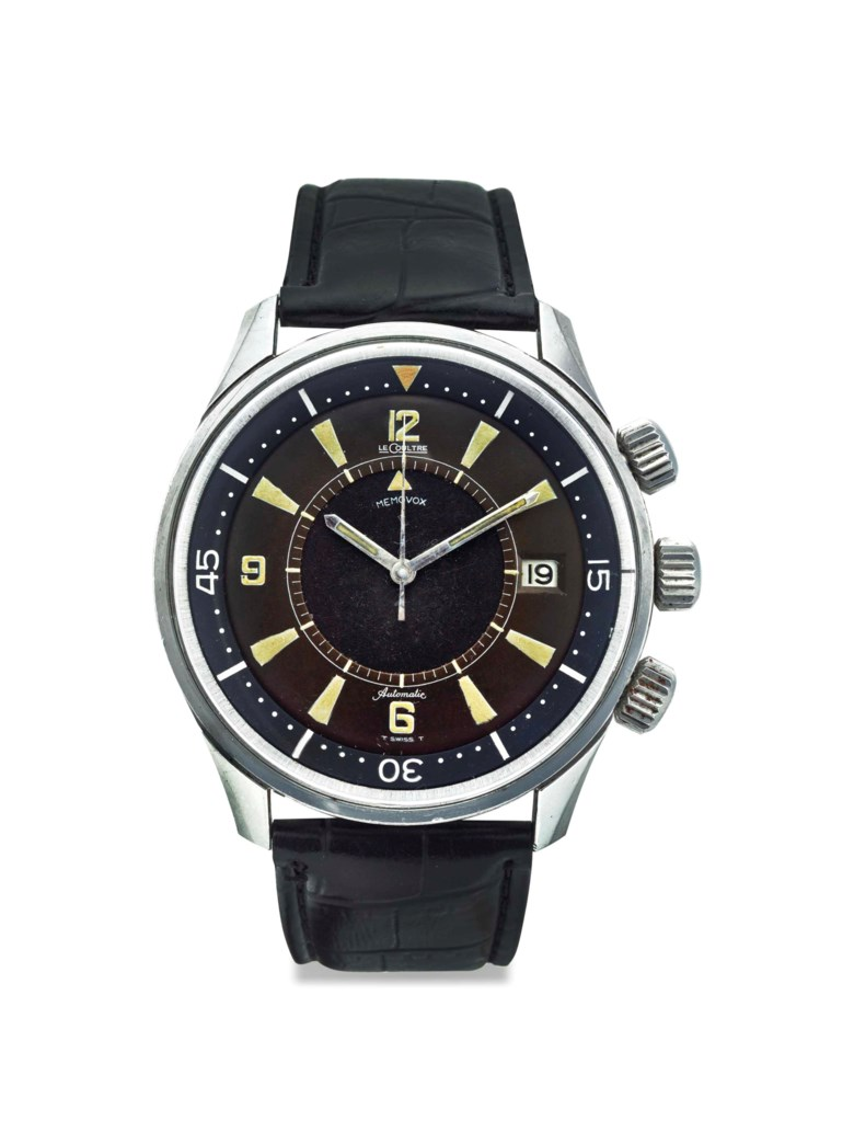 Jaeger-LeCoultre. A stainless-steel automatic diver's wristwatch with sweep centre seconds, alarm and date. Signed Jaeger-LeCoultre, Memovox Polaris model, Ref. E859, Movement no. 1'924'860, Case no. 1133080, manufactured in 1968. Sold for $21,250 on 19 October 2016