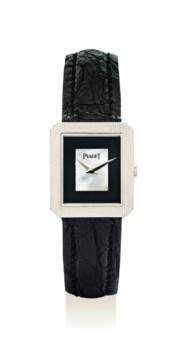 PIAGET. AN 18K WHITE GOLD RECT